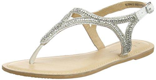 New Look Wide Foot Future, Sandalias planas Mujer Blanco (White)