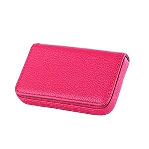 New Pocket PU Leather Business ID Credit Card Holder Case Wallet Pop TSUS Rose