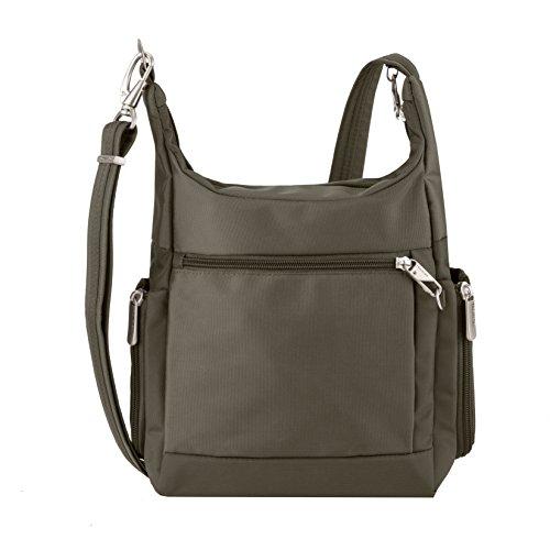 41oA0U%2BumxL - Travelon Anti-Theft Classic Messenger Bag, Nutmeg