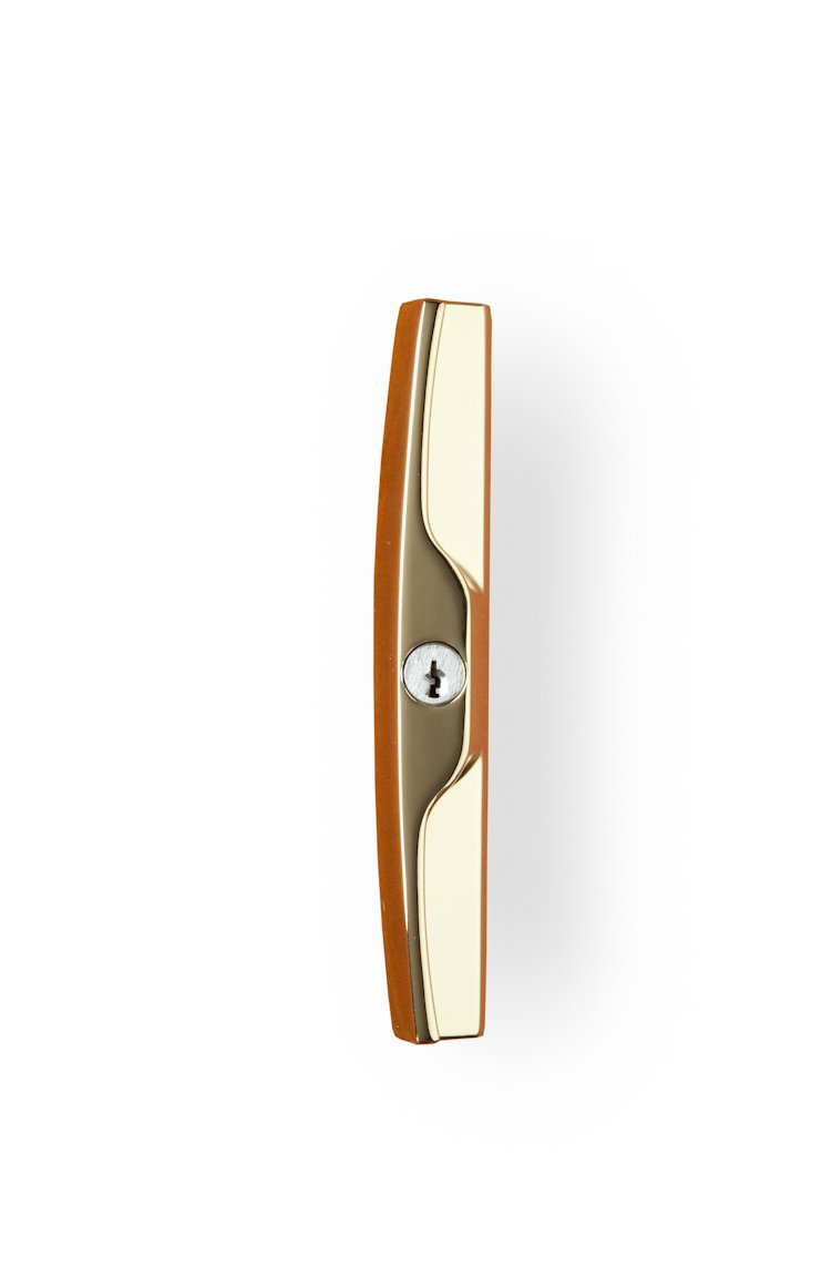 Simply Elegant 250-124 Sliding Door Lockset Bright Brass