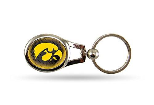 Rico NCAA Iowa Hawkeyes Oval Keychain - Key Ring Ncaa Iowa Hawkeyes