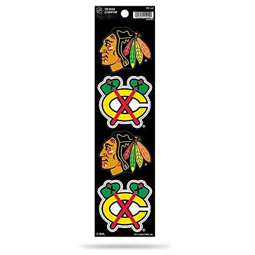 Rico Industries NHL Chicago Blackhawks Die Cut 4-Piece The Quad Sticker Sheet -