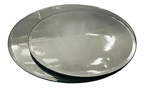INERRA Redondo Espejo de Cristal Placa para Mesa Boda centros de Mesa, Velas y de Mesa arreglos - Plateado, 30cm: Amazon.es: Hogar