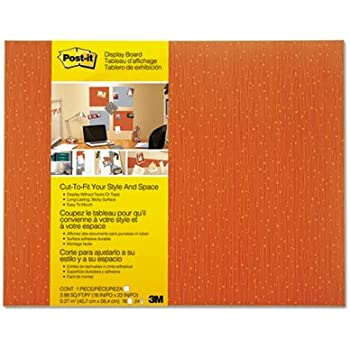 Cut-to-Fit Display Board, 18 x 23, Tangelo, Frameless, Sold as 1 Each