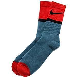 Men's Nike Classic Swoosh HBR Crew Socks- X-Large Rift Blue/Challenge Red/Black