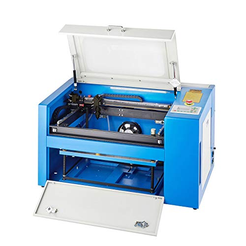 "Orion Motor Tech 50W Co2 Laser Cutter Engraver, 12"" x 20"" Laser Engraving & Cutting Machine for Wood, Glass, Leather, Acrylic, Paper etc. with Rotary Device"