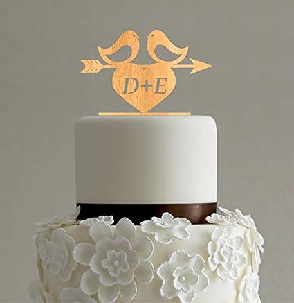 Amazon Com Rustic Love Birds Cake Topper Silhouette Wedding