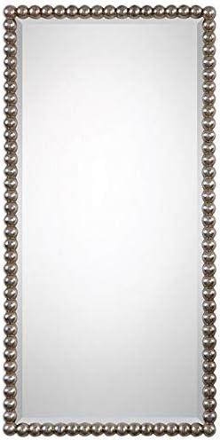 Uttermost Serna Antiqued Silver 16 x 32 Wall Mirror