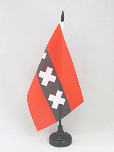 AZ FLAG Bandera de Mesa de ÁMSTERDAM 21x14cm - BANDERINA de ...