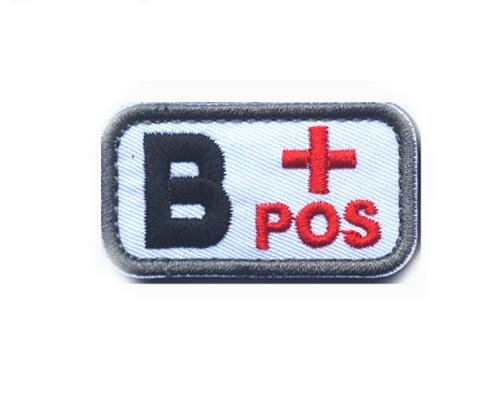 Best Quality - Patches - Military Badges Patches Identification Chapter 3D Embroidery Tactical Patches Design Blood Sign Type A + B + AB + O + Positive - by SEWCOLORS - 1 PCs