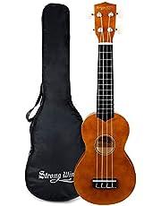 Soprano Ukulele Beginner Kit, 21 inch Ukulele 4 Strings Basswood Hawaiian Learning Ukulele Starter for Kids Students Adults Children
