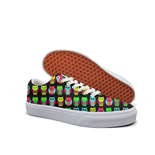 Bird Scaring Balloon (KKLDFD Owl Purdue Search The Habitat Are Owls Women Canvas Low-top Skate Shoes Soft Spot White)