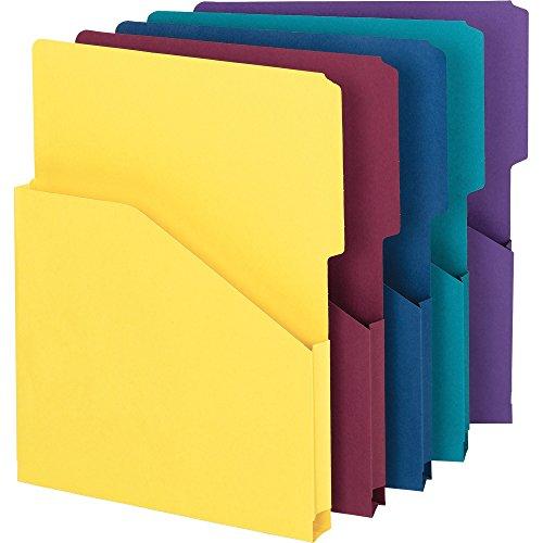 Smead 75445 Slash Jackets, 1-Inch Expansn, Letter,9-3/8-Inch x11-1/2-Inch, 5/PK, AST (Cut Slash Jackets File)
