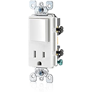 eaton tr274la 3 wire receptacle combo single pole switch leviton t5625 w decora combination switch and tamper resistant receptacle white