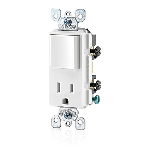 Style Switch Decora (Leviton T5625-W Decora Combination Switch and Tamper-Resistant Receptacle, White)