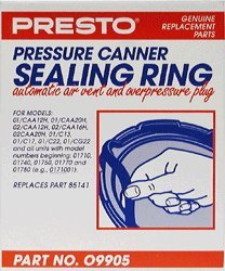 Presto 09905 Pressure Canner Sealing Ring/Safety Plug Pack