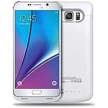Note 5 Estuche Protector Blanco con Batería Incluida, 4200mAh Cargador Protector con Batería de Reserva para Samsung Galaxy Note 5 Protector Recargable