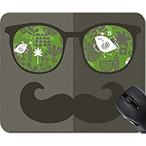 MSD Natural Rubber Mousepad Mouse Pads/Mat design: 27886528 Retro sunglasses with reflection for hipster Vector illustration of accessory glasses isolated Best print for eyeglasses advertisement