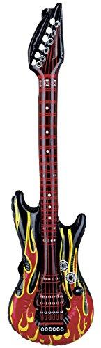 Krüger & Gregoriades 583009 - Aufblasbare Luftgitarre Flammen, 100 cm