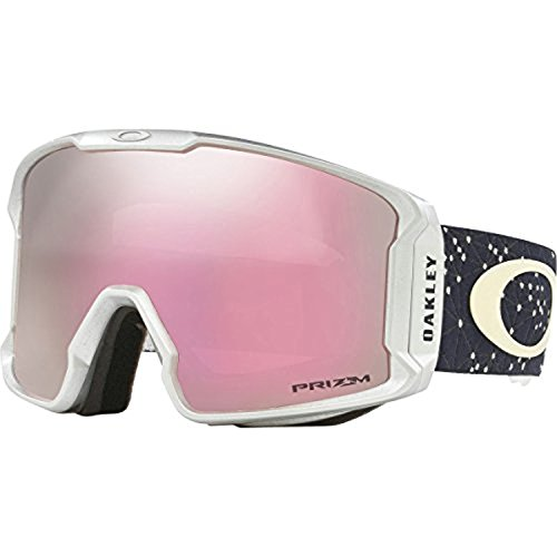 Oakley Line Miner Snow Goggles Galaxy Iron Ice/Prizm HI Pink & Cleaning - Ski Oakley Goggles New
