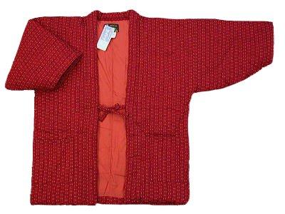 [일본식 모던 우박 자자 빨강】 본고장 구루메!솜옷 겉옷!여성용 프리 사이즈 일본제(MADE IN JAPAN) 일본 방한복