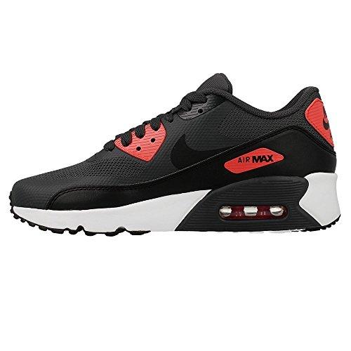 Nike Youth Air Max 90 Ultra 2.0 Mesh Trainers Blanco-Negro-Rojo