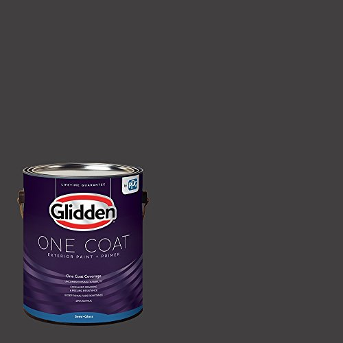 Glidden Exterior Paint + Primer: Black/Black Magic, One Coat, Semi-Gloss, 1-Gallon