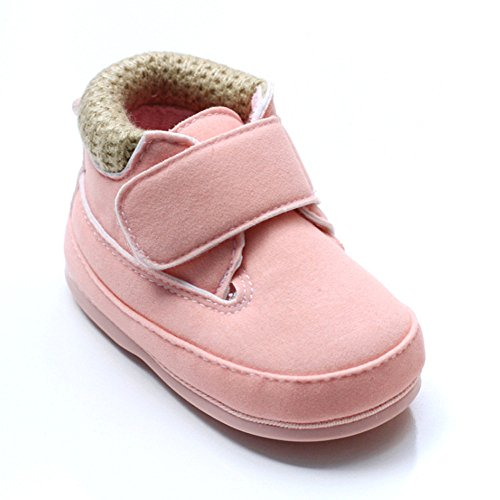 Pink First Walkers (Kuner Baby Boys and Girls Cotton Rubber Sole Sneaker Outdoor Warm Boots First Walkers (130(12cm(6-12months), Pink))