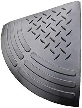 ゴム段差スロープ ラバーステップ 5cm用コーナー (5cm用左右コーナーセット)