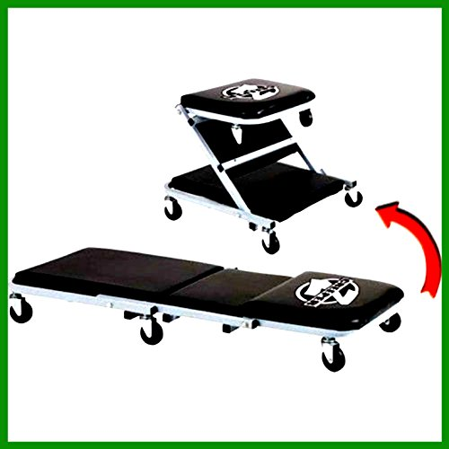 Roller Seat Creeper Pro Lift Steel Frame Low Profile Convertable 300 LBS Capacity - House Deals