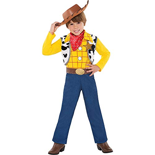 (Party City Toy Story Woody Halloween Costume for Toddler Boys, 3-4T, with Included)
