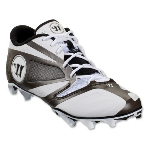 Warrior Burn 7.0 Low Cleat, White/Black, 10.5 D US