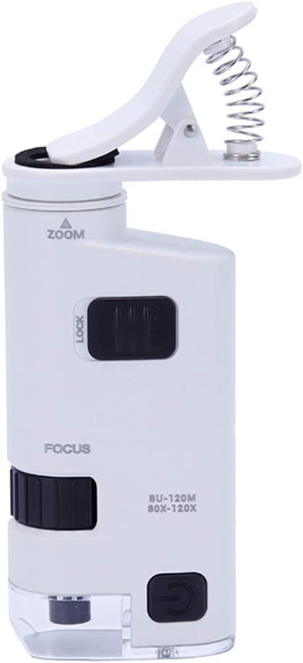 Wireless Digital Microscope Used for Jewelry and Jade Identification Kexia 80-120 Times Mobile Phone Microscope ABS//Optical Glass Lens//Clip Zoom Magnifying Glass