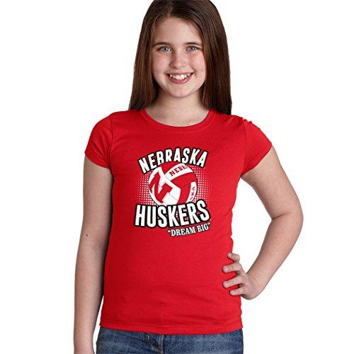 CornBorn Nebraska Huskers Volleyball Dream Big Youth Girls T
