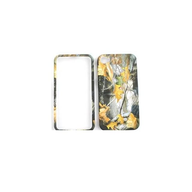 APPLE IPHONE 4 / 4S AT&T VERIZON Dry Leaves CAMO CAMOUFLAGE HUNTER HARD PROTECTOR COVER CASE / SNAP ON PERFECT FIT CASE