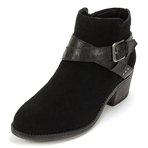 White Mountain 'YONDER' Women's Bootie, Black Suede - 7 M (Black And White Booties)