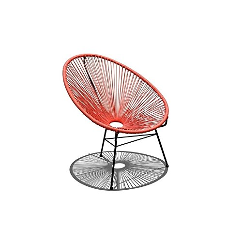 Harmonia Living HL-ACA-LC-ATB Acapulco Lounge Chair, Atomic Tangerine