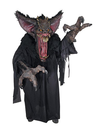 [UHC Creature Reacher Gruesome Bat Outfit Scary Theme Halloween Fancy Costume, OS] (Gruesome Bat Mask)