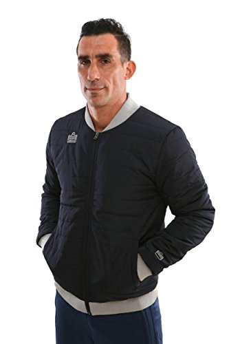 Admiral Thermal Soccer Sideline Rain/Cold Jacket, Black/Silver, Adult Medium