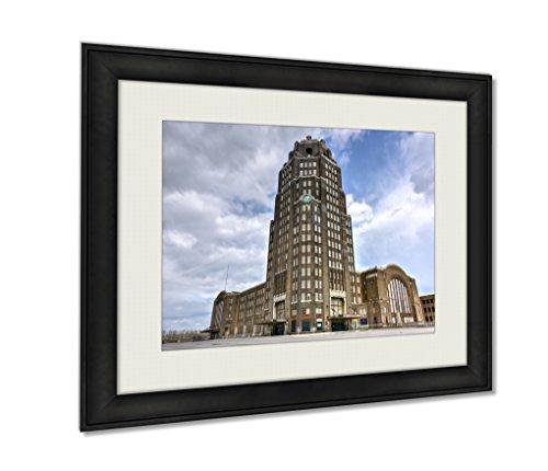 Ashley Framed Prints, Buffalo Central Terminal New York, Wall Art Decor Giclee Photo Print In Black Wood Frame, Ready to hang, 20x25 Art, AG5579653