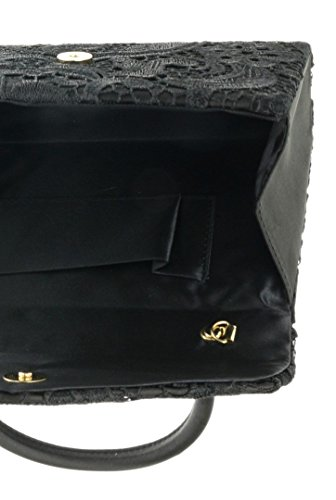 Elegant Handbag Handbag Womens Black Handle Designer Bag Evening Satin Womens London Bag Lace Top Wedding Party Vintage Clutch Fashion Out Going Clutch Craze Wedding Ladies zwEUqU