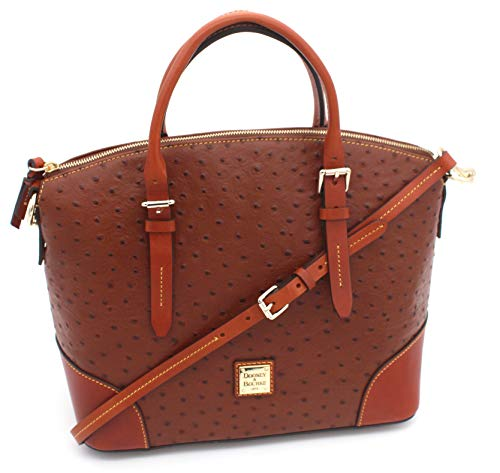 - Dooney & Bourke Domed Satchel Double Handle Bag (Cognac)