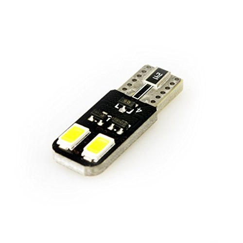 iDlumina T10 W5W 168 194 12V 6500K Pure White Canbus Error Free LED Car Light Bulb 4X5730SMD (Pack of 2)
