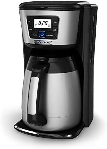 BLACK+DECKER 12-Cup Thermal Coffeemaker, Black/Silver, CM2035B