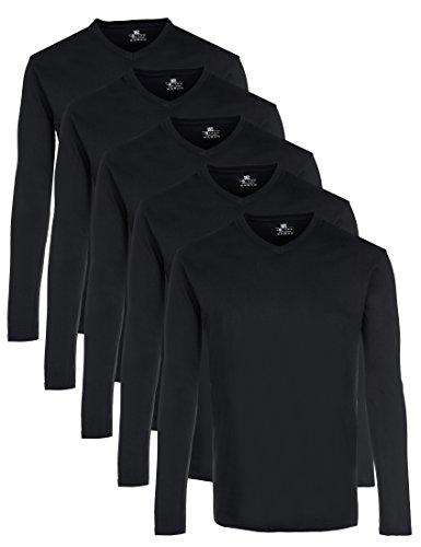 Lower East Men's Long Sleeve Top, Pack of 5