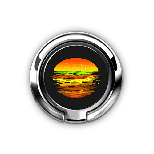 Cell Phone Ring Holder, Universal Smartphone Ring Grip Stand Car Mounts for iPhone X 8 7/7 Plus, for Samsung Galaxy S8/S7, for Tablet, Fit Magnetic Car Mount - (Sunset Burger)