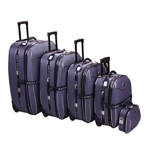 5 teiliges Kofferset blau