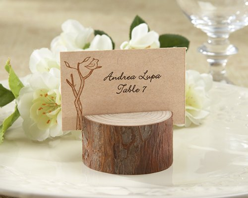 Rustic Real-Wood Place Card Holder / Photo Holder Favor (Set of 20) by Kate Aspen (Image #1)
