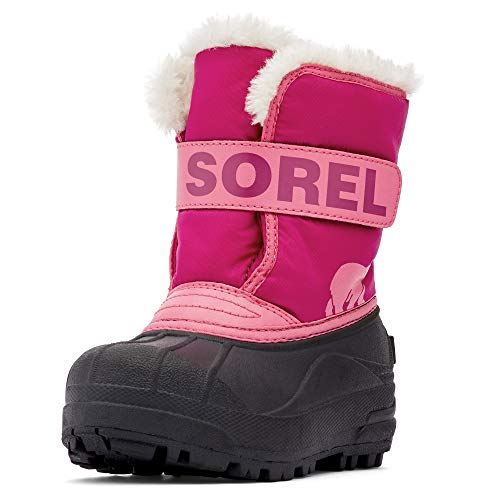Sorel - Youth Snow Commander Snow Boots for Kids, Tropic Pink, Deep Blush, 6 M US