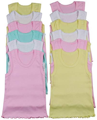 ToBeInStyle Girls' 4 Pack Ruffle Hem Tank Tops - Pastel - Size 1 ()